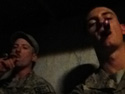 Sgt Chris Heilemann (left) and Sgt Blair Landon (right) enjoying a few Man O' War, Ruinations. Afghanistan 2013