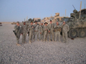 A few guys in 3/2 SCR currently deployed to Afghanistan.