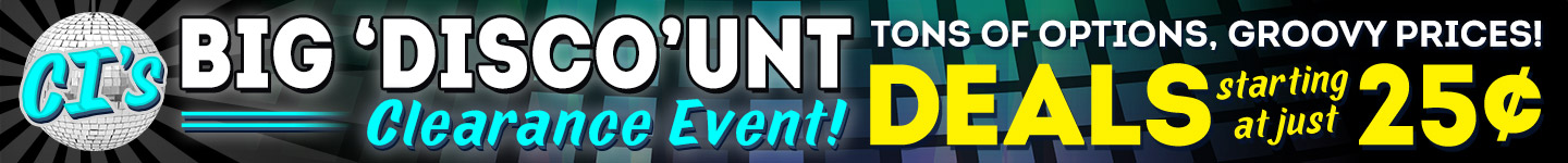 CI's Big Discount Clearance Event - Click Here!
