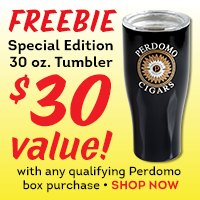 Free Tumbler with Perdomo box purchase!