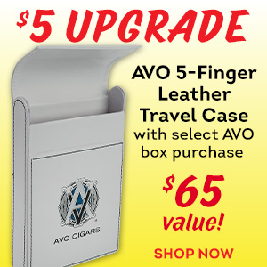 For a limited time, receive an AVO Branded Travel Case with any qualifying AVO box purchase for just $5 more!
