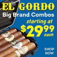 The ultimate combination - 5 super-premium cigars, a solid travel humidor, and a Rockwell quad torch starting at $29.99!