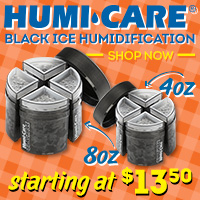Black Ice Provides even Humidity Distribution for Desktop Humidors!