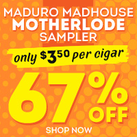 A mad mix of meaty maduro handmades in one giant motherlode! Some of the best Maduros you can buy for $3.50 per cigar!
