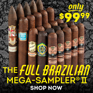 20 spicy, full-bodied cigars from four different best-selling brands! The Full Brazilian Mega-Sampler II is just $99.99!!