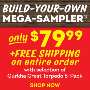 Your chance to score an AMAZING deal is here. Build-your-own Mega-Sampler, 20 handmade cigars for just $79.99!!