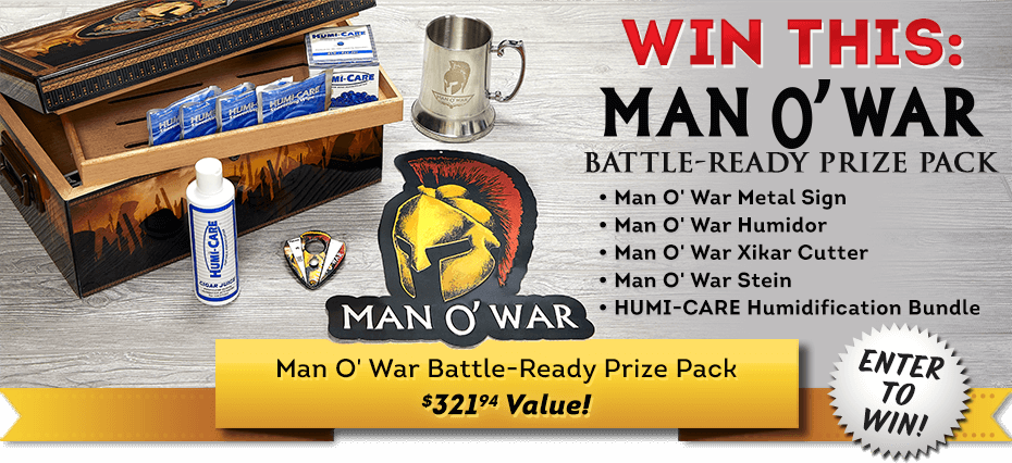 Cigars International February 2021 Sweepstakes: Man O' War Battle-Ready Prize Pack