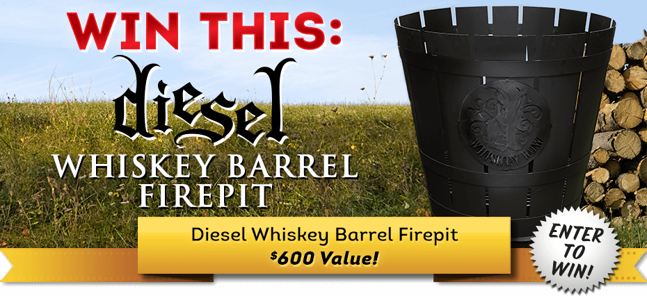Cigars International March 2021 Sweepstakes: Diesel Whiskey Barrel Firepit