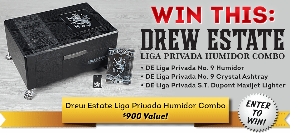 Cigars International April 2021 Sweepstakes: Drew Estate Liga Privada Humidor Set