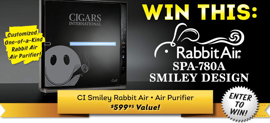 Cigars International May 2021 Sweepstakes: CI Smiley RabbitAir Air Purifier