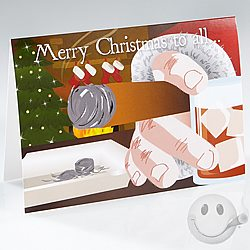 Smokin' Santa Christmas Greeting Card