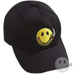CI Nation Smiley Mesh Cap - Black