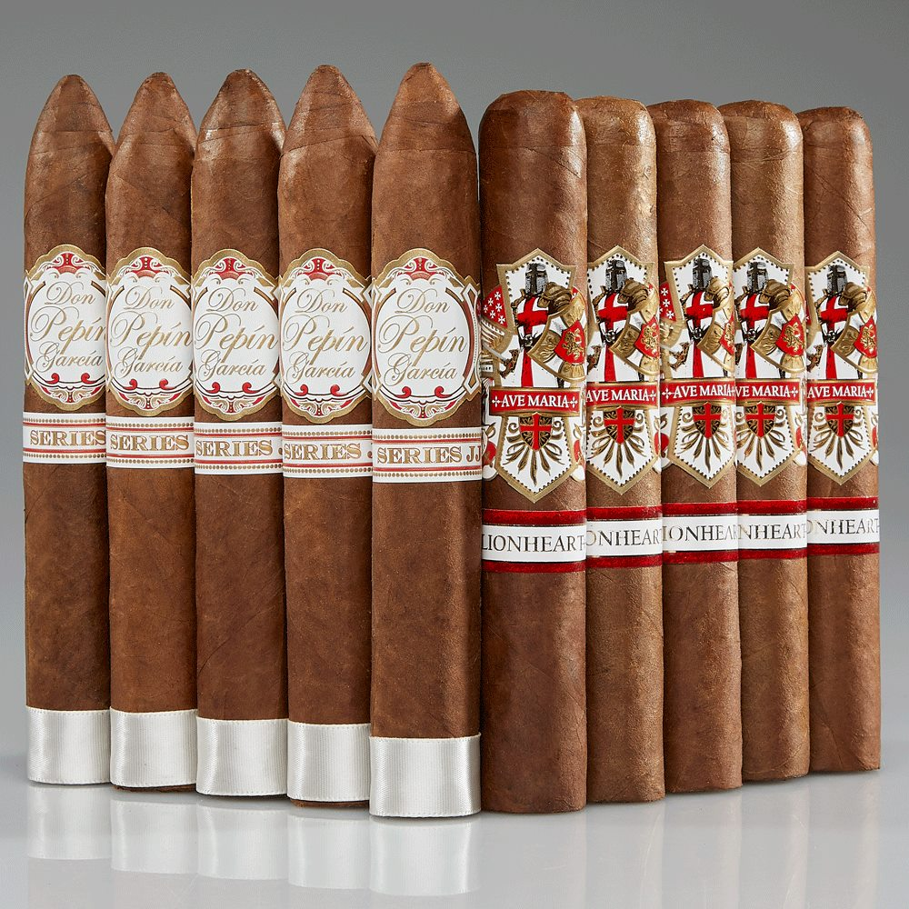 #74: Don Pepin Serie JJ and Ave Maria Lionheart  10 Cigars