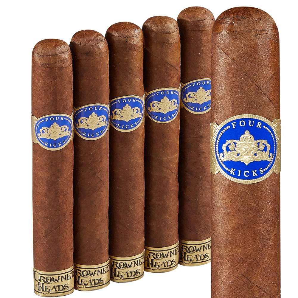 "Four Kicks Capa Especial Robusto (5.0""x50) Pack of 5"