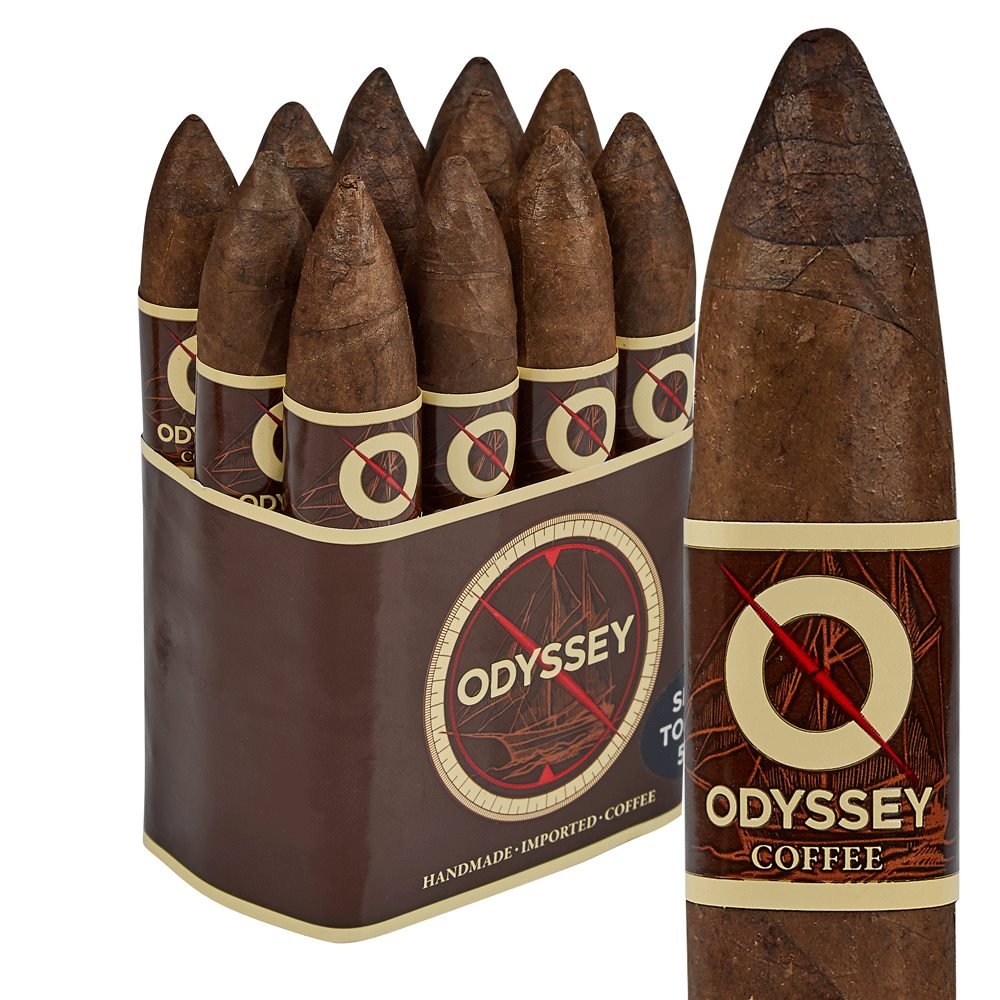"Odyssey Coffee Short Torpedo (Belicoso) (5.0""x52) Pack of 12"