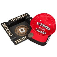 Perdomo Ashtray and Hat Combo  Cigar Accessory Sampler
