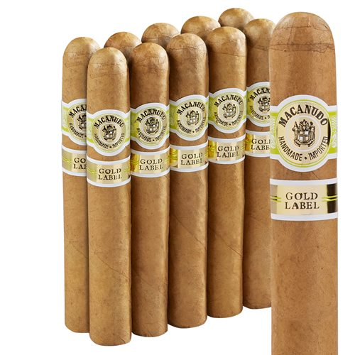 "Macanudo Gold Crystal (Robusto) (5.5""x50) Pack of 10"